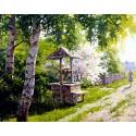 Утро в деревне Алмазная вышивка мозаика Гранни
