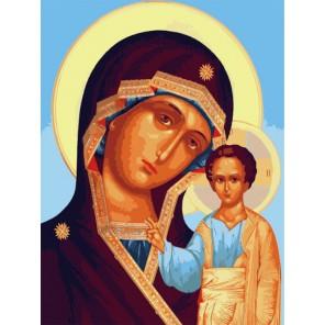Дева Мария Раскраска по номерам акриловыми красками на холсте Menglei