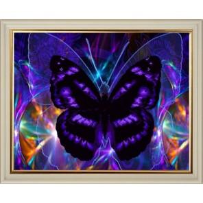 Бабочка Алмазная частичная вышивка мозаика на подрамнике Color Kit