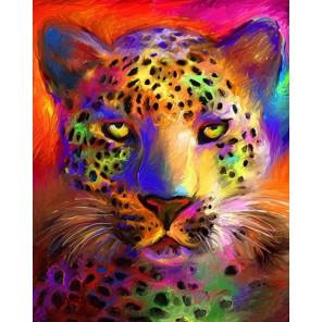 Цветной гепард Алмазная вышивка (мозаика) на подрамнике Color Kit