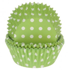 Горошек зеленый Набор бумажных форм для кексов Dolce Arti
