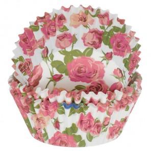 Розы на белом фоне Набор бумажных форм для кексов Dolce Arti