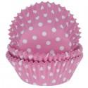 Горошек розовый Набор бумажных форм для кексов Dolce Arti