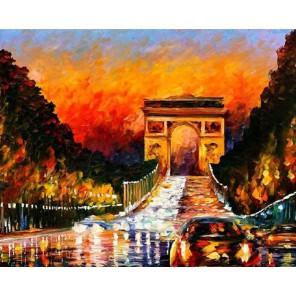 Вечерний закат (художник Леонид Афремов) Раскраска картина по номерам акриловыми красками на холсте Molly