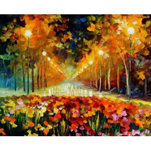 Аллея роз (художник Леонид Афремов) Раскраска картина по номерам акриловыми красками на холсте Molly