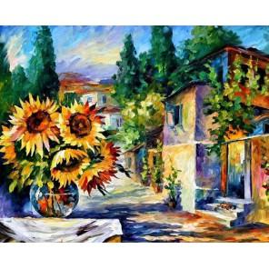 Полдень в Греции (художник Леонид Афремов) Раскраска картина по номерам на холсте Molly