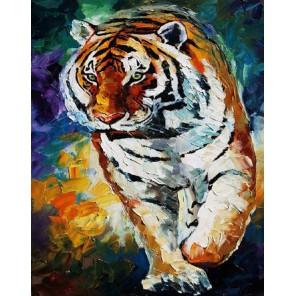 Тигр Раскраска картина по номерам акриловыми красками на холсте Molly