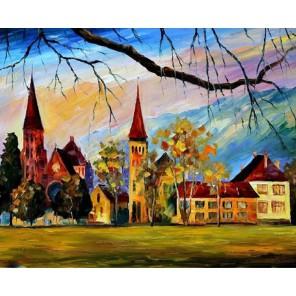 Швейцария (художник Леонид Афремов) Раскраска картина по номерам акриловыми красками на холсте Molly