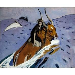 Похищение Европы (репродукция Серова В.А.) Раскраска картина по номерам на холсте Molly