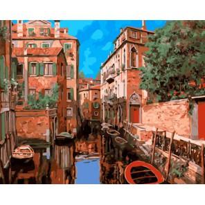 Венецианский квартал Раскраска ( картина ) по номерам на холсте Iteso