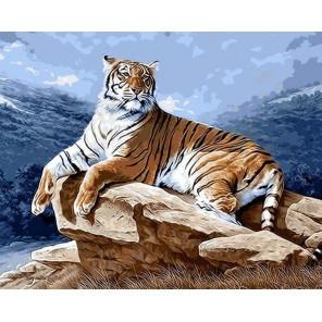 Тигр на рассвете Раскраска ( картина ) по номерам на холсте Iteso