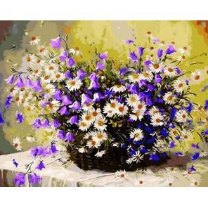 Колокольчики и ромашки Раскраска ( картина ) по номерам акриловыми красками на холсте Iteso