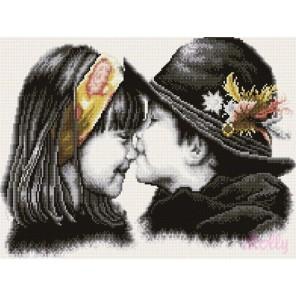 Трогательный поцелуй Алмазная вышивка (мозаика) Molly
