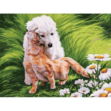 Обожание Раскраска картина по номерам акриловыми красками на картоне Белоснежка