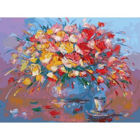 Кофеёк Раскраска картина по номерам акриловыми красками на картоне Белоснежка