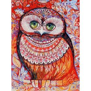 Медовая сова Раскраска картина по номерам акриловыми красками на картоне Белоснежка