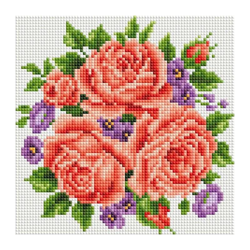 Схемы вышивки крестом розы картинки