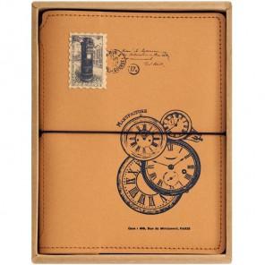 Старинные часы Записная книжка-блокнот для скрапбукинга Белоснежка