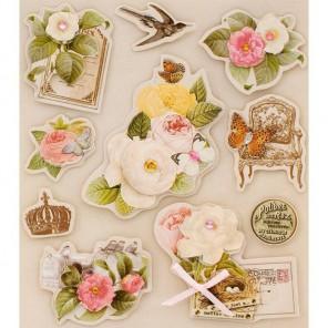 Цветы и птицы Набор 3D стикеров для скрапбукинга, кардмейкинга Белоснежка