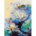 Лотос Раскраска картина по номерам акриловыми красками на холсте Белоснежка