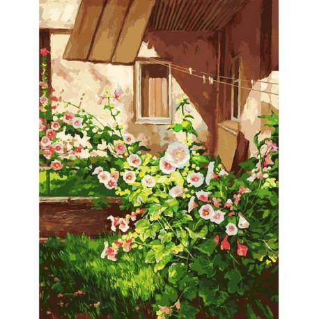 Куст шток розы Раскраска картина по номерам акриловыми красками на холсте Белоснежка