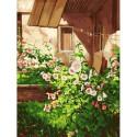 Куст шток розы Раскраска картина по номерам на холсте Белоснежка