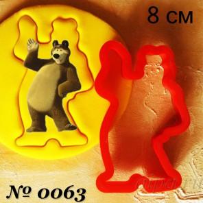 Медведь Форма для вырезания печенья и пряников