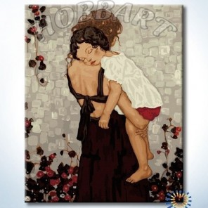 Мамина любовь Раскраска картина по номерам акриловыми красками на холсте Hobbart