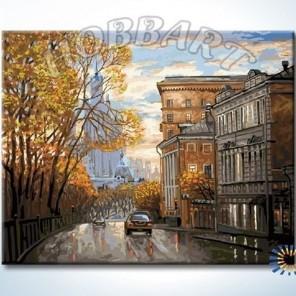 По улицам Москвы Раскраска картина по номерам акриловыми красками на холсте Hobbart