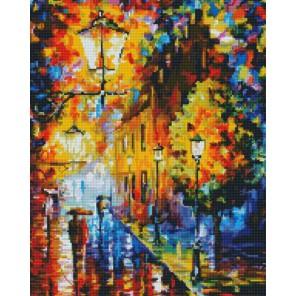 Огни в ночи Алмазная вышивка мозаика на подрамнике Белоснежка