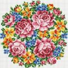 Букет Большое счастье Алмазная вышивка мозаика на подрамнике Белоснежка
