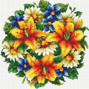 Букет с тигровыми лилиями Алмазная вышивка мозаика на подрамнике Белоснежка