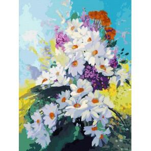 Счастье в ромашках Раскраска картина по номерам акриловыми красками на холсте Белоснежка