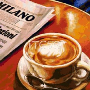 За чашечкой кофе Алмазная вышивка мозаика Iteso
