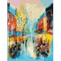 Улочки Парижа Раскраска картина по номерам на холсте Белоснежка