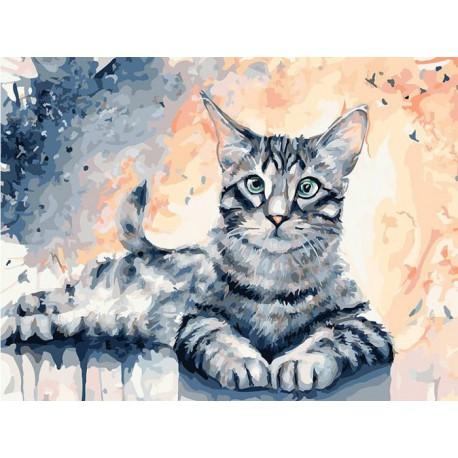Барсик Раскраска картина по номерам акриловыми красками на ...