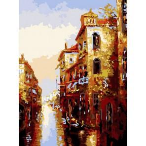 Канал в Венеции Раскраска картина по номерам акриловыми красками на холсте Белоснежка