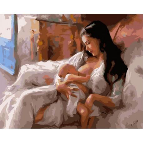Материнство Раскраска картина по номерам акриловыми красками на холсте Белоснежка