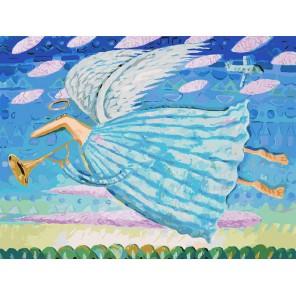 Ангел Раскраска картина по номерам акриловыми красками на холсте Белоснежка
