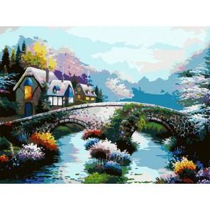 Старинный мост Раскраска картина по номерам на холсте Белоснежка