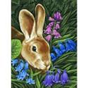 Кролик Раскраска картина по номерам акриловыми красками на холсте Белоснежка