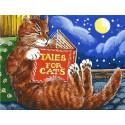 Сказки про котов Раскраска картина по номерам акриловыми красками на холсте Белоснежка