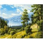 Лесной пейзаж Раскраска картина по номерам акриловыми красками на холсте Белоснежка
