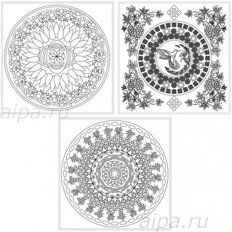 Духовное развитие Магические мандалы Раскраски акриловыми красками на картоне Белоснежка