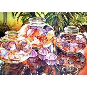 Красоты моря Алмазная частичная вышивка (мозаика) Color Kit