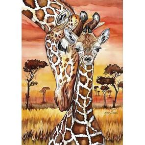 Раскладка Жирафы Алмазная вышивка мозаика Гранни