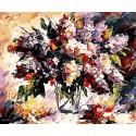 Сирень (художник Леонид Афремов) Раскраска картина по номерам на холсте Menglei