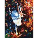 Танец души Раскраска картина по номерам на картоне Белоснежка