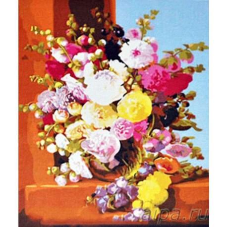 Летний букет Раскраска картина по номерам акриловыми красками на холсте Menglei