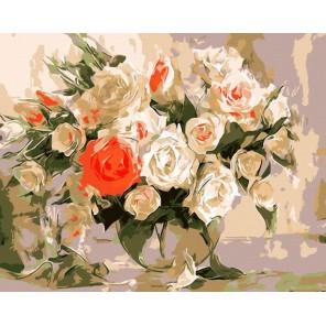 Очаровательный букет роз Айдемир Саидов Раскраска по номерам акриловыми красками на холсте Menglei